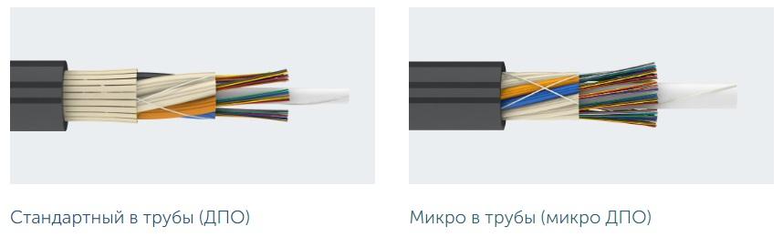Оптический кабель для задувки в трубы